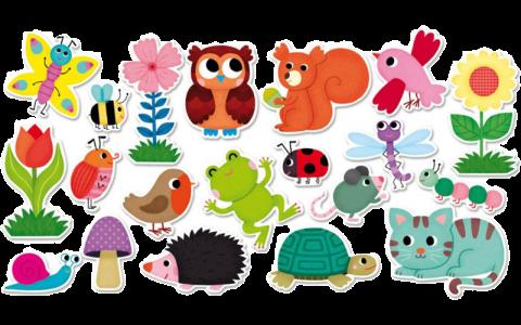 DREVENÉ MAGNETKY ZÁHRADA - Drevené edukačné hračky a58a554da61